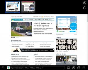 Internet Explorer met tabbladen en adresbalk