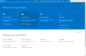 Office 365 Beheerpagina