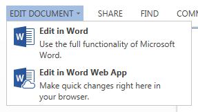 Open document in de Office Webapp