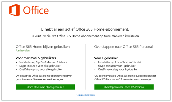 Office365Verlengen